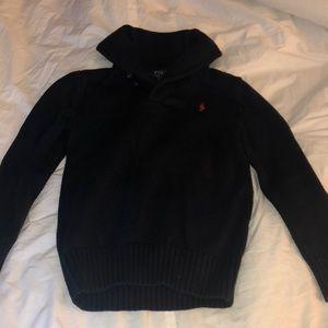 Navy Blue Ralph Lauren Shawl Sweater